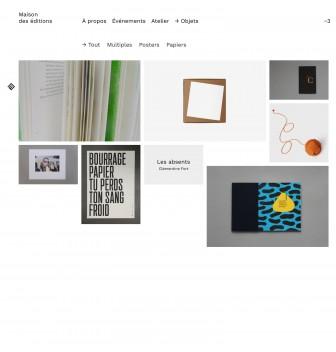 """Screenshot of """"Maison des éditions"""""""